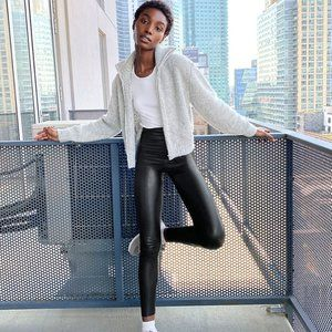 Wilfred Free Daria High-WaisLeather Leggings - EUC